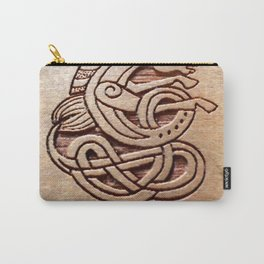 Horse carved in wood Carry-All Pouch