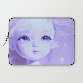 Lavender Big Eye Little Girl European Laptop Sleeve