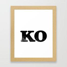 KO Framed Art Print
