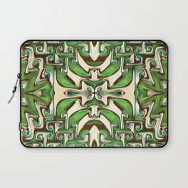 Green and Cream Spiral Bends Laptop Sleeve
