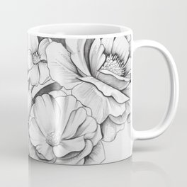 B&W Flowers Coffee Mug