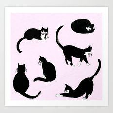 The Cats Meow Art Print