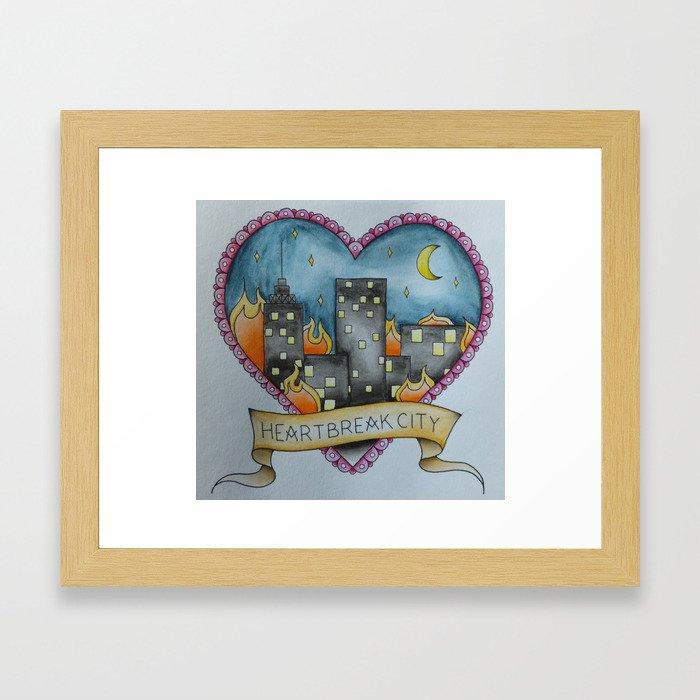 Heartbreak City. Framed Art Print