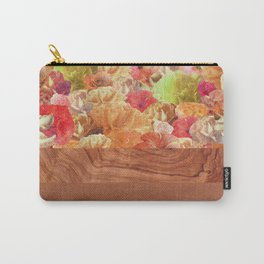 Layers Floral Wood Carry-All Pouch