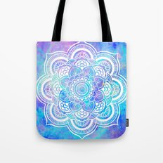 Mandala Pink Lavender Aqua Galaxy Space Tote Bag