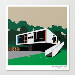 Rose Seidler House Seidler Modern Architecture Canvas Print