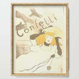 """Henri de Toulouse-Lautrec """"Confetti"""" Serving Tray"""