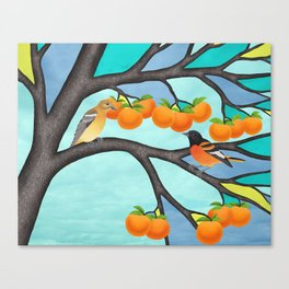 B. orioles in the stained glass tree Canvas Print