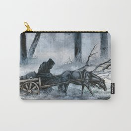 Grim Reaper with Horse in the Woods Carry-All Pouch