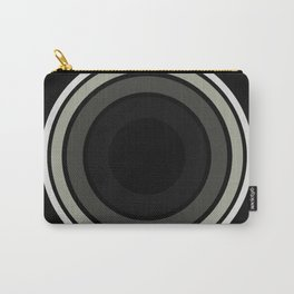 Into The Black - Abstract, black and white, minimalistic, geometric artwork Carry-All Pouch