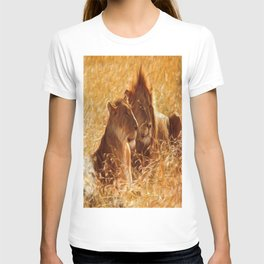 The Lion with his Lioness~ bathed in sunlight and love... T-shirt