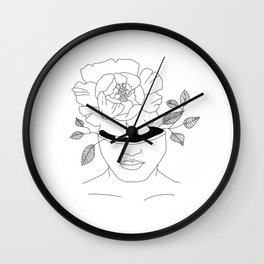 a girl who blooms from within Wall Clock