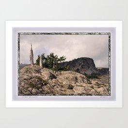 DARK SIDE OF TABLE MOUNTAIN Art Print