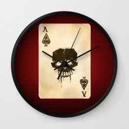 Ace of Spades Game Playing Card Wall Clock