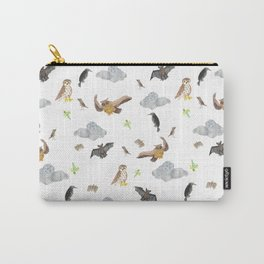 """Night Creatures """"Owl, bat and crow"""" Pattern Carry-All Pouch"""