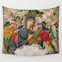 madonna Wall Tapestries featuring Saints Collection -- Madonna And Child by Elo Marc