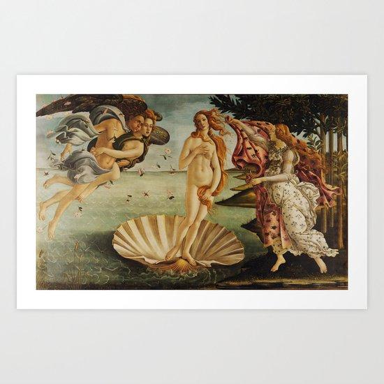 The Birth of Venus by Sandro Botticelli by palazzoartgallery