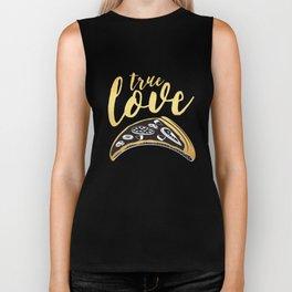 True Love is Pizza Biker Tank