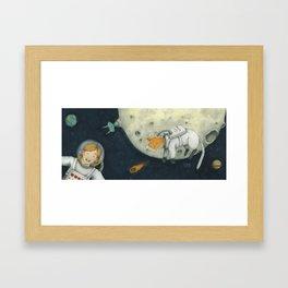 Let's play astronauts! Framed Art Print