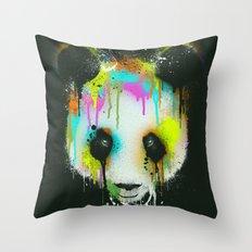 Technicolour Panda Throw Pillow