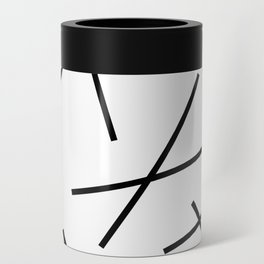 Black and white mikado stripes dash pattern Can Cooler