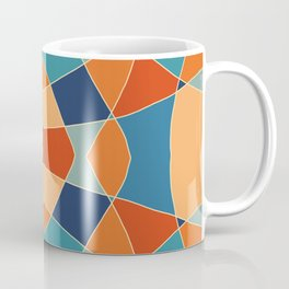 Retro Colored Abstract Butterfly Coffee Mug