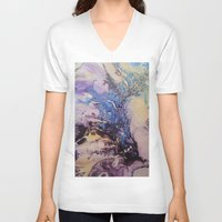 exo V-neck T-shirts featuring Exo- Birth Series I by Melina Green