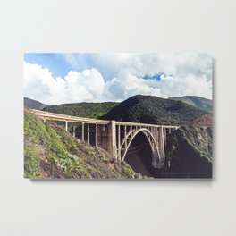 Bixby Bridge Metal Print