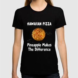 Womens Hawaiian Pizza graphic Pineapple Makes The Difference V-Neck design T-shirt