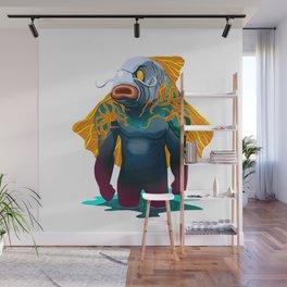 catfish man yakuza attack Wall Mural