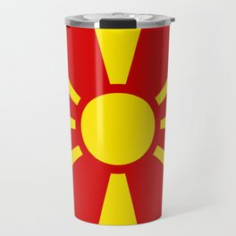 National flag of Macedonia - authentic version Travel Mug