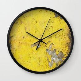 Yellow Weathered Wood rustic decor Wall Clock