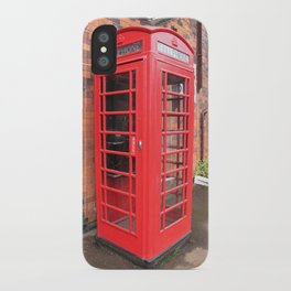 red phone call box london iPhone Case