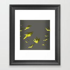 THE FLYING YELLOW Framed Art Print