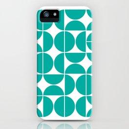 Mid Century Modern Geometric 04 Turquoise iPhone Case