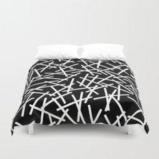 Kerplunk Black and White Duvet Cover