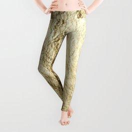 Crinkled Gold Leggings