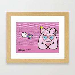 Plump Planet Friends Framed Art Print