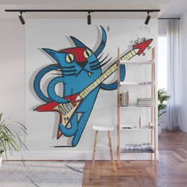 Cat's love to rock Wall Mural