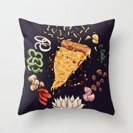 Pizza Mandala Throw Pillow