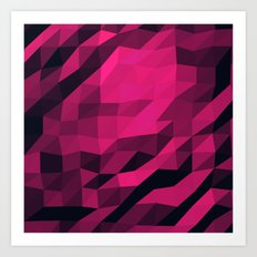 Red Pink Geometric Pattern Art Print