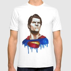 Man Of Steel Mens Fitted Tee White MEDIUM