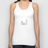 sushi Tank Tops featuring sushi. by tiny little plum