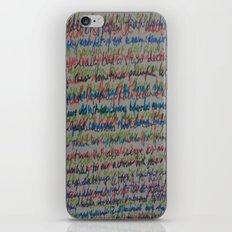 Handwriting on the Wall iPhone & iPod Skin