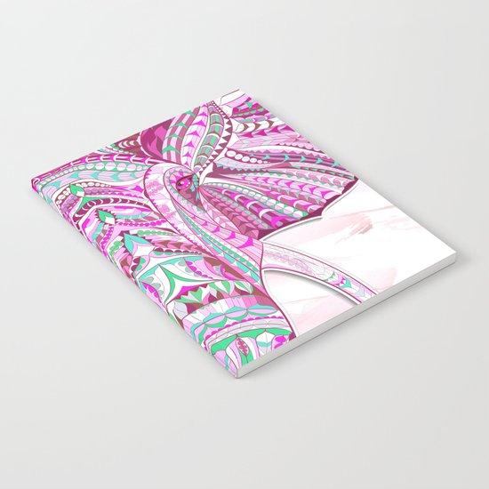 Pink Ethnic Elephant Notebook