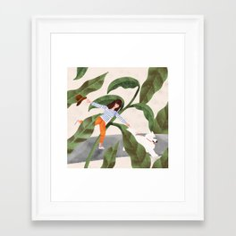 Going On A Walk Framed Art Print