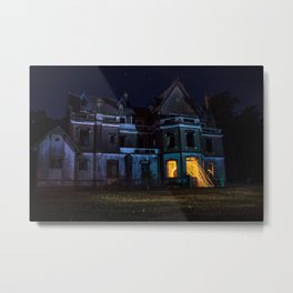 Castle on fire Metal Print