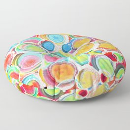 Sunshine on Your Spotty Mind (Alcohol Inks Series 07) Floor Pillow