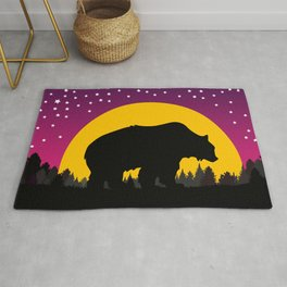 Bear Stars Moon Rug