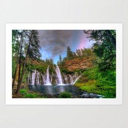 Photos California USA Burney Falls Nature Waterfal Art Print